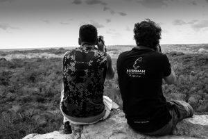 Guest and Bushmanphoto Staff Coba Private Tour Photo Safari