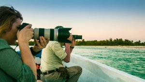 Guest Participants with Pro Camera in Sian Kaan Private Tour Photo Safari