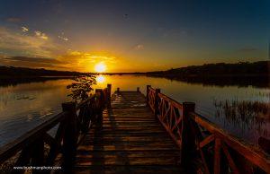 virgin lagoon sunset