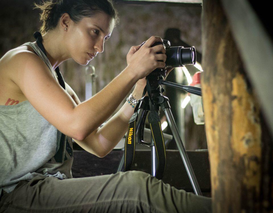 Guest Participant with Nikon Pro Camera and Tripod - Cenote Riviera Maya Private Tour